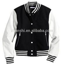 Wholesale Blank Men's Blue Black White Wool American Varsity Jacket