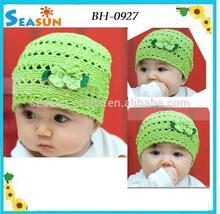 OEM custom handmade crochet knitted baby cap