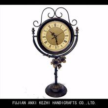 antique decorative metal table time clock