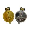 cross pattern metal wholesale 64gb pendrive , round shape usb 3.0 fast speed usb flash drive