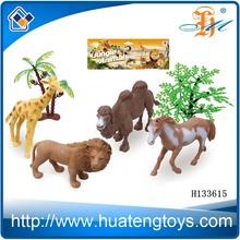 2014 Wholsale small plastic wild lifelike animal figurine,resin animal figurines toy H133615
