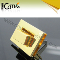 New Product Cheap Rectangle Gold Hardware Bag Turn Lock