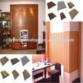 Painéis de parede, decoração de interiores, ecológica wood plastic material que pode ser reciclado