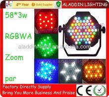 rgbaw par can 58x3W with zoom stage night club decoration