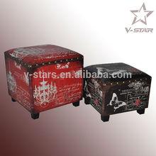 SJ-VS3220 New model furniture living room square storage ottoman