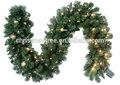 6ft 180 consejos de pino de plástico verde y guirnaldas de navidad con luces para el español de marketing