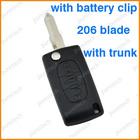 citroen remote folding key covers with trunk has battery holder NE73 blade car key