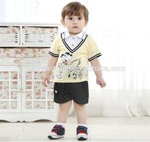 children boy's clothing sets,cute puppy designs,2014 Summer