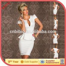 High quality latest fashion office lady design wholesale plus size bodycon dresses