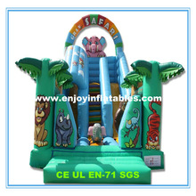 2014 lion/rabbit/dolphin/whale/alligator/crocodile/fish/snappy fish/tiger/shark/animal/bouncy inflatable castle slide
