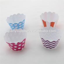 Cake Decoration Striped Chevron Polka dot Heart Cupcake Wrappers