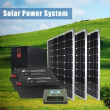 2014 off grid solar power inverter, controller, batteries, panels solar power system