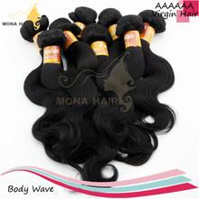 No tangle little shedding full cuticle highest natural body wavy virgin peruvian hair