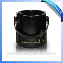 Wholesale plastic acrylic ice bucket with handle