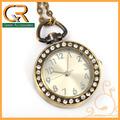 spedizione gratuita orologio da tasca collana cerchio diamante cartone animato orologio da tasca per la signora