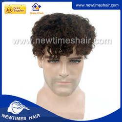 lace front men's curly toupee