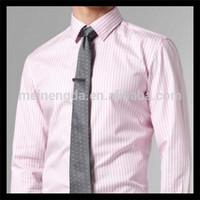 Chinese hot sale cotton stripe zero shirts for men