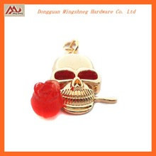 Wholesale fashion Halloween gifts with flowers skull charm pendant