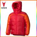 Enfants de marque rouge veste en duvet d'oie, doudoune pour l'hiver
