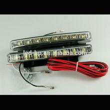 High Bright 6leds white led daytime running light security car lights