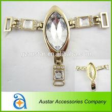 New design gold metal rhinestone ornaments for footwear