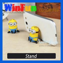 Minion Sucker Stand Silicone Phone Holder Cute Minion Desktop Cell Phone Holder