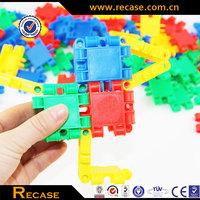 Promotional educational enlighten plastic puzzle building blocks