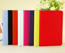 Korea stylish smart flip pu leather case for ipad mini with auto sleep&wake up function folding pu cover