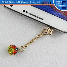 Colorful Bling Diamond Jack Dustproof Plug For Iphone
