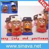 Fashion for iphone 5 5s Silicone 3D Cute Cartoon Mr Potato Head Design Case Cover