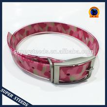 waterproof pet collars & leashes, pink pet collar