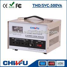 CE ROHS single phase 500VA pure copper servo motor avr 0.5kva automatic voltage stabilizer wenzhou