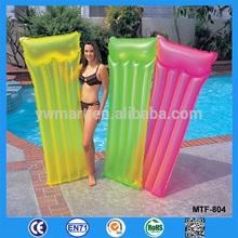 Fashion popular high qulity summer pvc Inflatable Pool Mattress