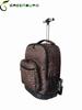 2014 new design single handle leopard cool printing travel bag/trolley backpck on wheels