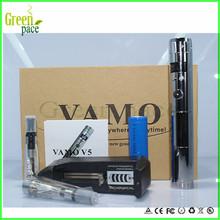 cheap 3-6v,3-15w vv vw e cigarette vamo v5 kit,vamo v5 battery lcd shows puffs and electricity,resistance