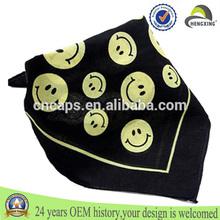 Soft free sample fashion satin football stylish head scarf colorful silk