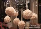 2014 SJ FB005 Hot artificial flower ball wedding flower ball round flower ball for decorative artificial flower ball