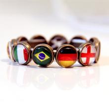 2014 Brazil World Cup customized team logo bracelet team flag bracelet