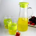 1 litro de vidrio transparente de beber agua fría o caliente jarra con tapa