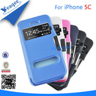 new Super slim wallet leather cases for apple iphone 5c