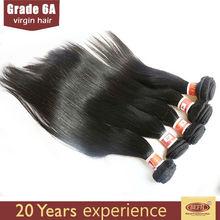 6A Grade Tangle free 100% unprocessed vigin peruvian straight hair