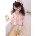 أزياء الأطفال سترة الكورية 2014 الأزهار الفتيات سترة تريكو الاطفال السترة سترة الياقات الدمية