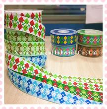 Customized printed grosgrain ribbon