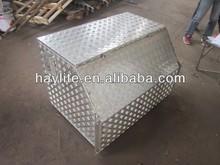Truck chekcer plate upright portable aluminum trailer tongue tool box
