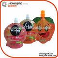 impresso a quente frutas e forma da garrafa de água suco de embalagem bag
