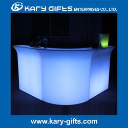 Fireproof Coffee Shop LED Counter Polyethylene
