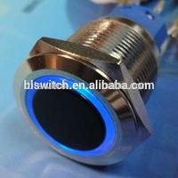 16mm 12V Blue Led Metallic Angle Eye Push Button Momentary Switch f Car Boat DIY