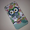Owl Soft TPU Mobile Phone Case for iPhone 4 4G 4S Waterproof Cell Phone Back Cover