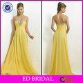 Sweetheart perles de cristal Detailing jaune mousseline de soie Design robe de soirée montréal