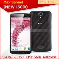 "inew i600 with 6.5""MTK6589T quad core 1920X1080p 1.5ghz android 4.2 2gb ram 32gb rom 3150mAh 13.0MP original smart phone"